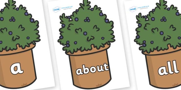 100 High Frequency Words on Plants - High frequency words, hfw, DfES Letters and Sounds, Letters and Sounds, display words