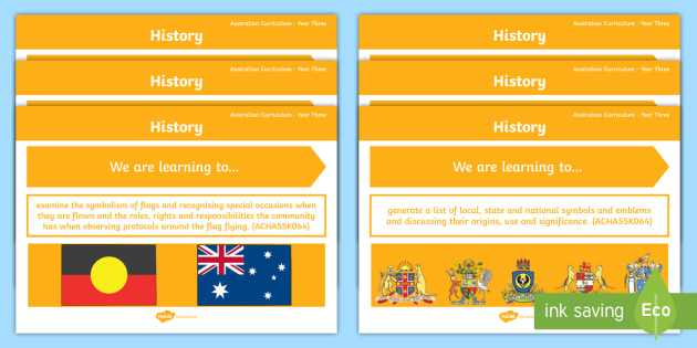 Year 3 Australian Hass History Content Descriptors Display Pack