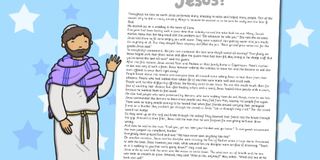 The Miracles of Jesus Bible Stories Print Out - christianity