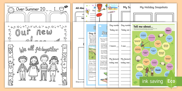 3rd and 4th Class First Day Back Activity Pack