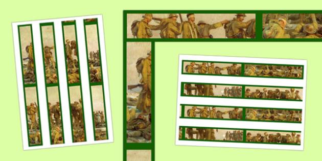 Poetry of World War One Display Border - poetry, world war one, display border, display