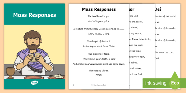 Roman Catholic Mass Responses Pupil Print-Out - religion, Roman Catholic