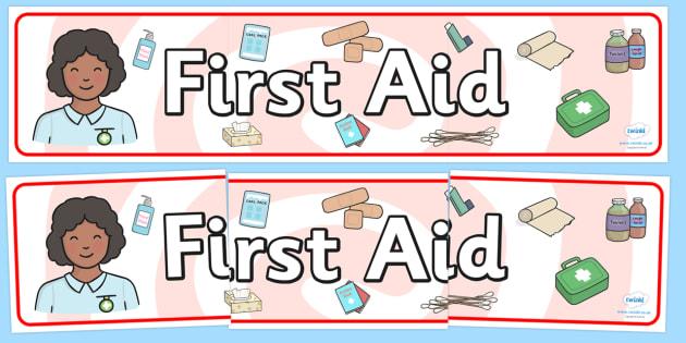 First Aid Display Banner - first aid, display banner, banner for display, banner, display, display header, header, header for display, banner display