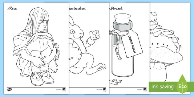 NEW * Alice im Wunderland Ausmalbilder - Lesen, Literatur