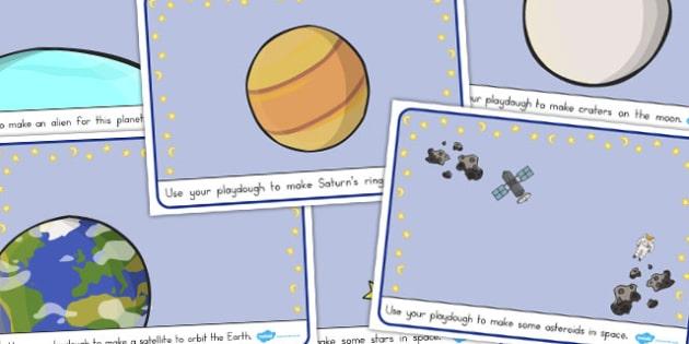 Space Playdough Mats - australia, font, space, playdough, mat