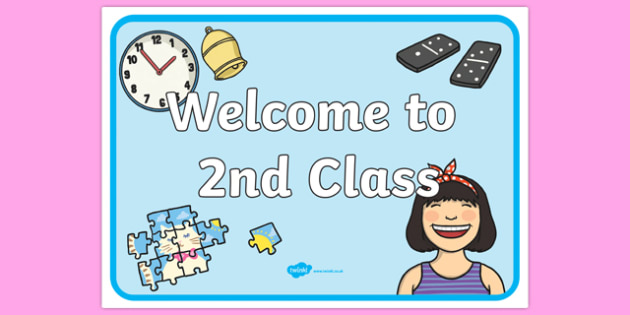 Welcome to 2nd Class Display Poster-Irish