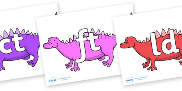 Final Letter Blends on Scelidosaurus - Final Letters, final letter, letter blend, letter blends, consonant, consonants, digraph, trigraph, literacy, alphabet, letters, foundation stage literacy