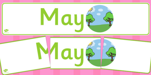May Display Banner - may, display banner, display, banner, months, year