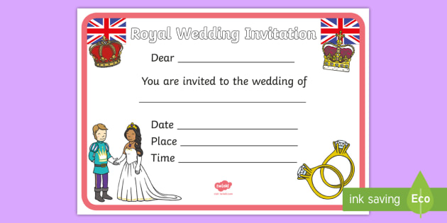 Design a royal wedding invitation royal wedding the royal design a royal wedding invitation royal wedding the royal wedding fine motor skills stopboris Choice Image