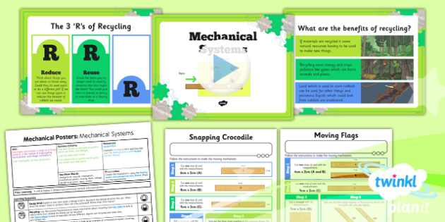 D&T: Mechanical Posters: Mechanical Systems LKS2 Lesson Pack 1