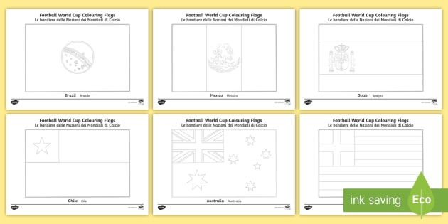 - World Cup Flags Coloring Pages English/Italian