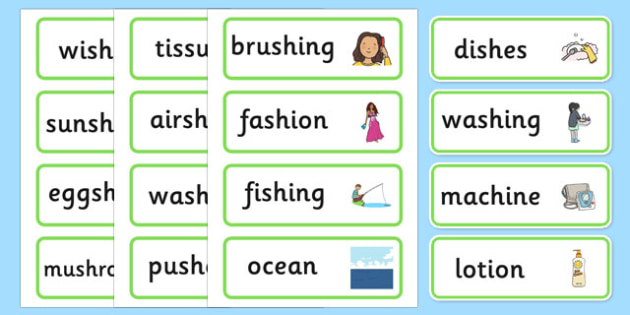 Medial sh Word Cards - speech sounds, phonology, articulation, speech therapy, dyspraxia
