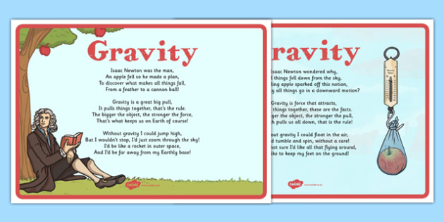 Gravity Poems Display Posters - CfE, writing, poetry, poem, gravity, Isaac Newton, scotland, scottish, science, curriculum, excellence