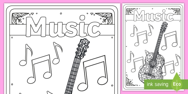 Music Mindfulness Colouring Book Cover Teacher Made