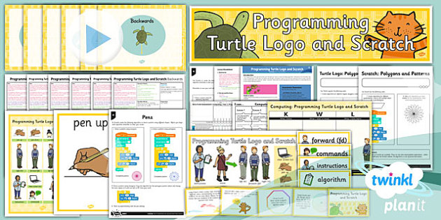 Computing: Programming Turtle Logo and Scratch Year 3 Unit Pack