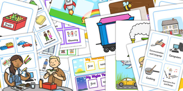 EYFS Visual Timetable Resource Pack - visual, timetable, pack