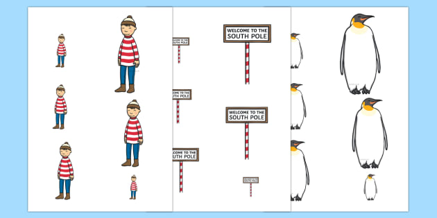Size Ordering to Support Teaching on Lost and Found - storybook, size order, size, order
