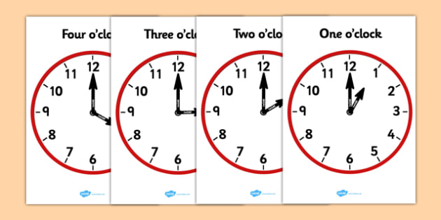 Analogue Clocks - Hourly O' Clock - education, home school, child development, children activities, free, kids, math games, worksheets, number work