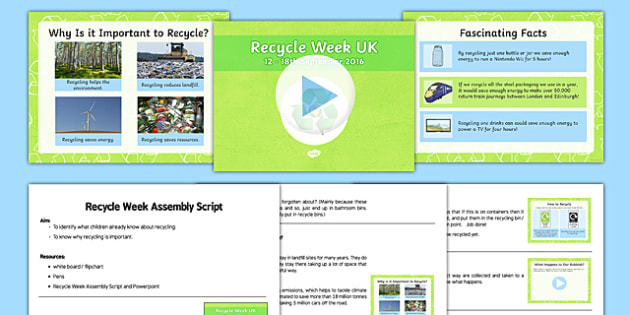 Recycle Week Assembly Pack