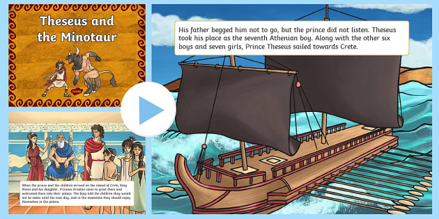 Theseus and the Minotaur Story PowerPoint - Greek Mythology Resources