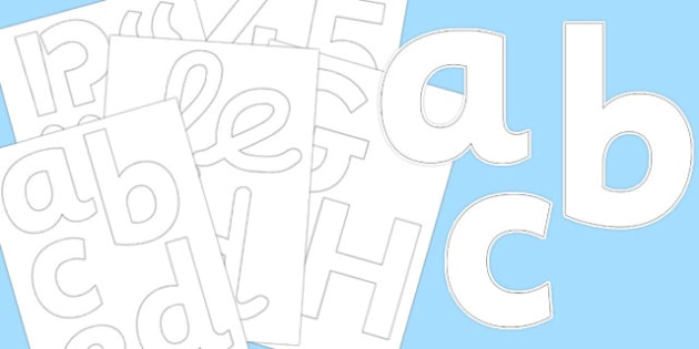 White Display Letters and Numbers Pack - white, display, letters