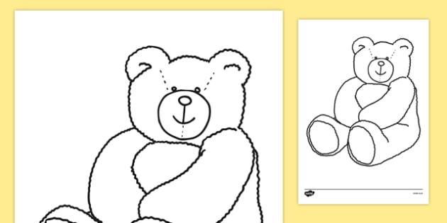 Colouring Teddy Bears - Teddy Bear, Teddy Bears, Alphabet