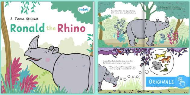 Ronald the rhino ebook ronald the rhino rhyming pattern ronald the rhino ebook ronald the rhino rhyming pattern story jungle fandeluxe Choice Image
