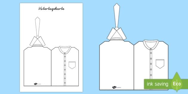 Vatertagskarte Hemd Und Krawatte Anmalbilder Vatertagskarte Hemd Und