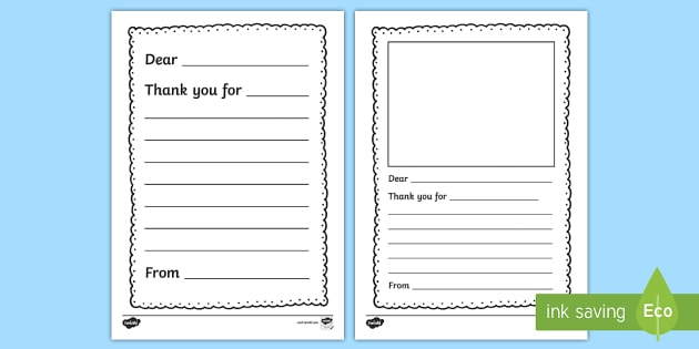 You Letter Writing Template  Thank You Letter Writing