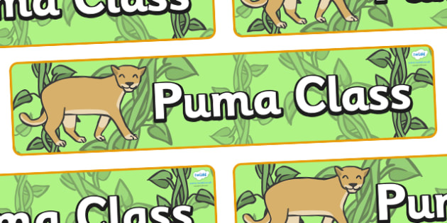 Puma Themed Classroom Display Banner - Themed banner, banner, display banner, Classroom labels, Area labels, Poster, Display, Areas