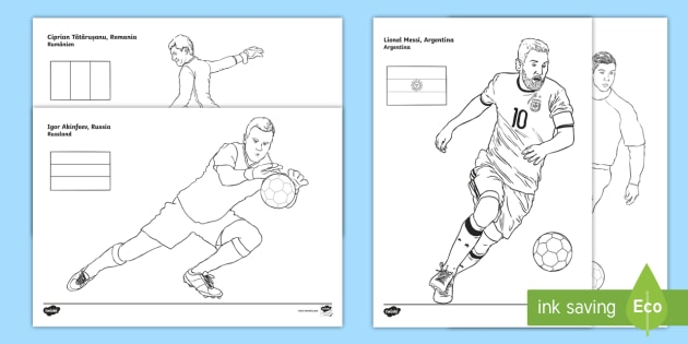 International footballers colouring pages english spanish for World cup coloring pages