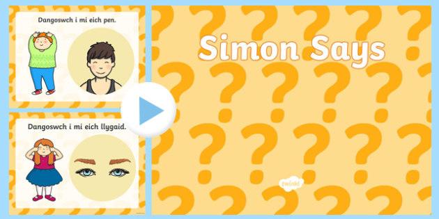 Simon Says PowerPoint-Welsh