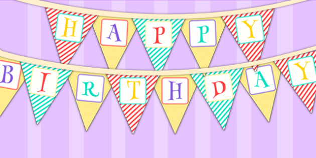 Animal Themed Birthday Party Happy Birthday Bunting - birthdays