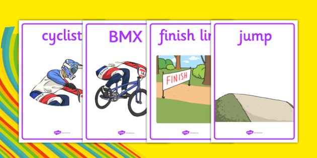 Rio 2016 Olympics BMX Cycling Display Posters - rio 2016, 2016 olympics, rio olympics, bmx cycling, bmx, cycling, display posters