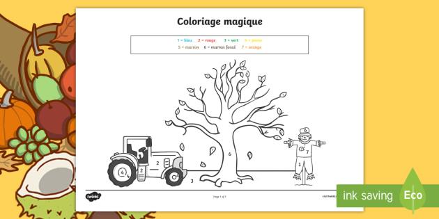 Coloriage Magique L Automne De Un à Dix Les Couleurs L