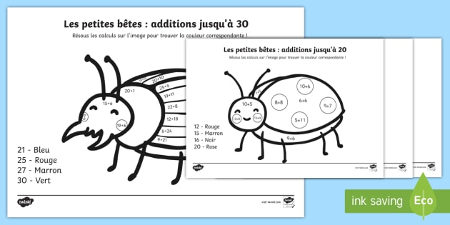Coloriage Magique Calcul Addition.Coloriage Magique Les Additions Additions Mathematiques