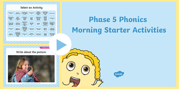 Phase 5 Phonics Morning Starter Activities PowerPoint