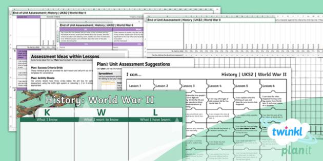 History: World War II UKS2 Unit Assessment Pack