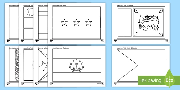 Free Asian Flag Coloring Pages | 315x630