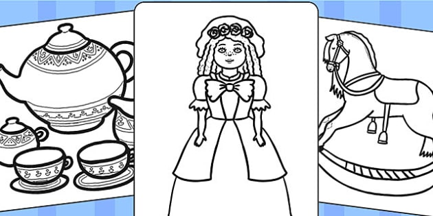 victorian toys colouring pages victoria toy colouring colour