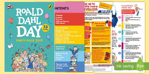 FREE! - Roald Dahl Day Party Pack 2019