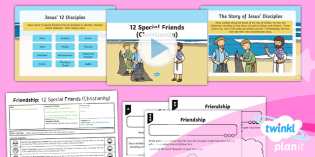 RE: Friendship: 12 Special Friends (Christianity) Year 1 Lesson Pack 6