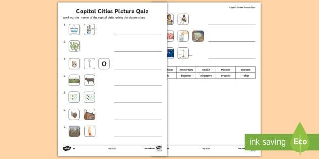 Ks2 capital cities picture quick quiz geography around the ks2 capital cities picture quick quiz geography around the world emojis capitals gumiabroncs Gallery