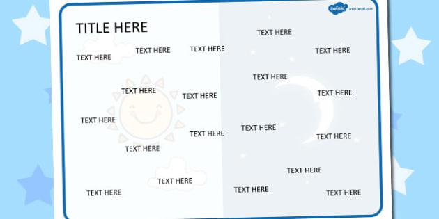 Light and Dark Themed Editable Word Mat - literacy, words, mats
