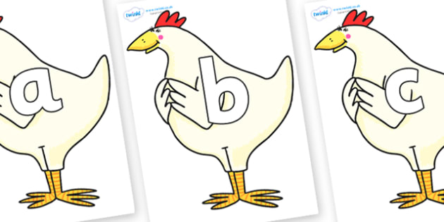 Phoneme Set on Hullabaloo Chicken to Support Teaching on Farmyard Hullabaloo - Phoneme set, phonemes, phoneme, Letters and Sounds, DfES, display, Phase 1, Phase 2, Phase 3, Phase 5, Foundation, Literacy