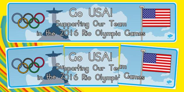 USA 2016 Rio Olympics Display Banner - usa, america, usa, 2016, rio olympics, rio 2016, 2016 olympics, display banner, display, banner