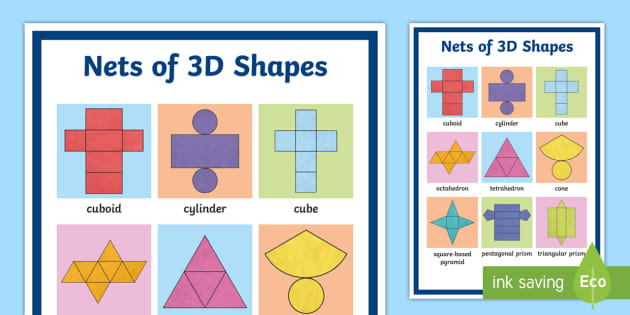 12 nets of 3d shapes amp stepbystep how to calculate - 630×315