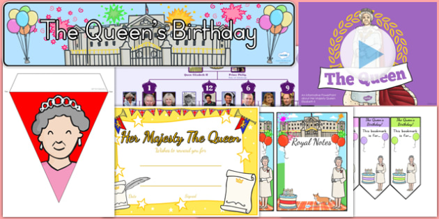 The Queen's Birthday Resource Pack - australia, the queens birthday, 90th birthday, birthday, party, queen, resource pack