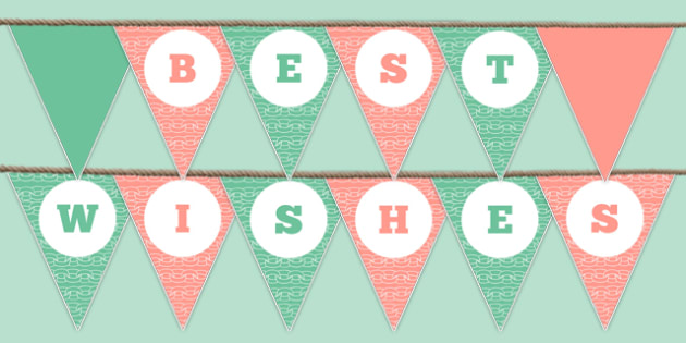 Best Wishes Bunting - best wishes, bunting, display bunting, display, school leavers