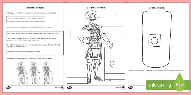 Soldații romani Fișă de lucru